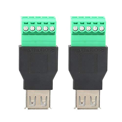 USB Konverter, 2PCS Quicklink Solderless Typ A Buchse USB Terminal Adapter Konverter -
