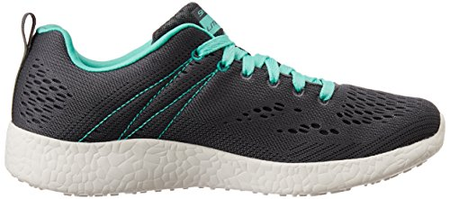 Skechers Burst New Influence, Baskets Basses Femme Charcoal-Aqua