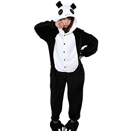 Aivtalk Unisex Tierkostüme Pyjamas Flanell Schlafanzug Nachtwäsche Kostüme für Fasching Kinderparty Karneval Beste Geschenk zum Weihnachten - Panda Größe (Kostüm Cosplay Homewear Lounge Sleepsuit Wear Pyjamas)
