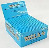 RIZLA 10 Booklets Rizla Blue King Size Slim Rolling Papers,