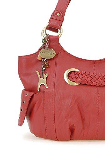 Umhängetasche - Leder - Marianne von Catwalk Collection - Große: B: H: T: cm Rot