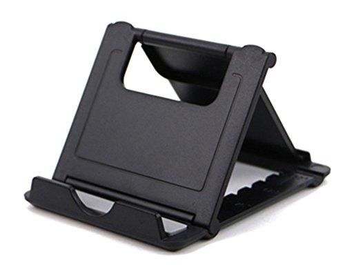 CTGVH Soporte para teléfono Mini móvil Universal Desk teléfono Celular Stander Ajustable Plegable para móvil teléfono y Tablet,Negro