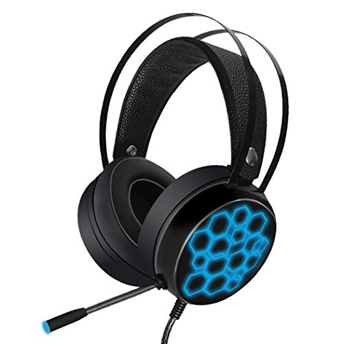 Mzq-yq Gaming Headset 7.1USB Bunte Beleuchtete Internet Cafe E-Sport 40mm Maschine Computer Universal Soft HD Mikrofon (Farbe : Long Light Microphone)