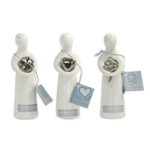 Casablanca Figuren \'Wish\', 3-teiliges Set, 12 cm, weiß-silber