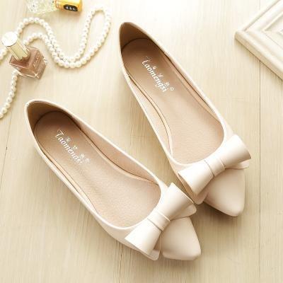 &qq Chaussures plates femmes, chaussures simples bouche superficielle, pointues petites bottes, chaussures de mode 43