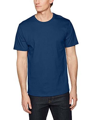 Trigema Herren T-Shirt 100% Biobaumwolle Blau (Saphir-C2C 552)