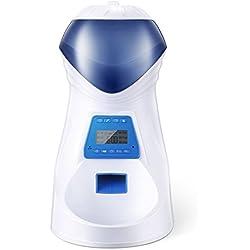 HoneyGuaridan A25 Comedero Electrónico Automático con Recordatorio por Voz y Temporizador Programable, 6-Comidas para Perros (Mediano y Pequeño) y Gatos