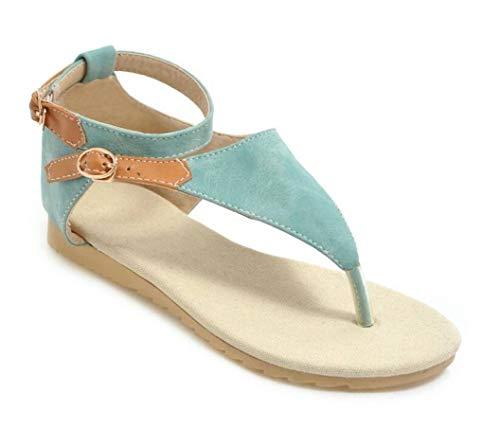 Frauen Gladiator Thong Flip Flops T-Strap Knöchelriemen mit Schnalle Verschluss Abdeckung Ferse Flache Sandalen Sommer Strand Schuhe -