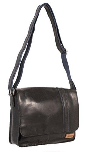 m9306304schwarz Leder Designer Hause Le Craf Ray klein Cross Body/Messenger Bag