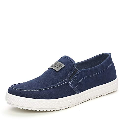 LOVDRAM Zapatos Casuales Zapatos Casuales De Los Hombres Zapatos Casuales De Los Hombres Zapatos De Lona Zapatos De Los Hombres Zapatos Perezosos Hombres, Azul, 41