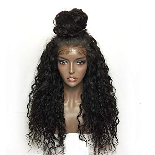 LSAltd 2019 heiße Fashion Curly Wig Full Lace Wigs Elegant Black Women Human Hair Fashion Lace Front Wig 22 ()