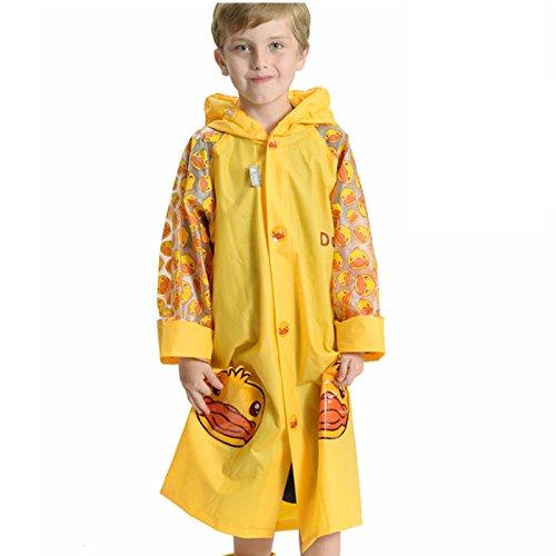 FEIFEI Mode Cartoon Kinder Regenmantel EVA Material Erfrischende Junge Umweltschutz Outdoor Girls Tragbare Winddicht Regensicher Sonnenschutz Reise Blau Gelb Grün Rosa Geeignet Alter: 6-14 Jahre Alt ( Farbe : Gelb , größe : S )
