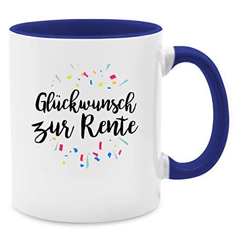 kwunsch zur Rente - Unisize - Dunkelblau - Q9061 - Kaffee-Tasse inkl. Geschenk-Verpackung ()