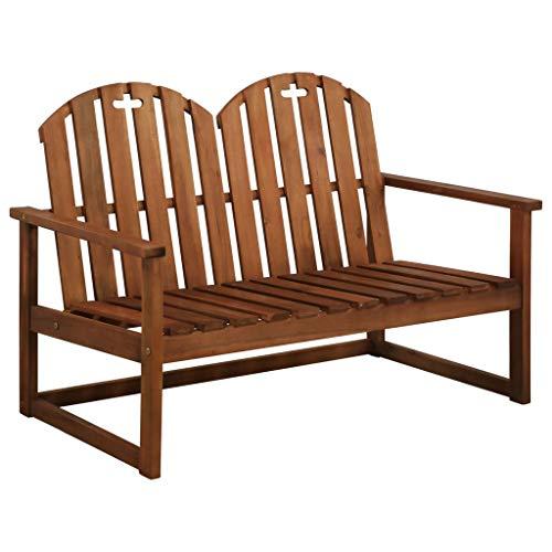 Festnight 2-Sitzer-Gartensofa | Holz Gartenbank | Parkbank | Terrasse Holzbank | Outdoor Sitzbank | Balkonbank | Massives Akazienholz 110 x 63 x 79 cm