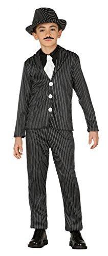 Kinder Jungen Mädchen 1920s Gangster oder Flapper Bugsy Malone Kostüm Kleid Outfit 3-9 jahre - Jungen, 7-9 Years (Gangster Kostüm Für Mädchen)