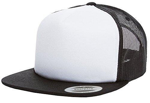 Preisvergleich Produktbild Snapback Damen Herren Classic Trucker Cap 2-Tone Rap Rapper Hip Hop panel schwarz weiß cap