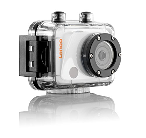 LENCO SPORTCAM-400 wasserdichte HD Sportkamera (5 cm (12,7 Zoll) Display, Mikrofon, Li-Polymer Akku, umfangreiches Zubehör, Full HD 1080P)