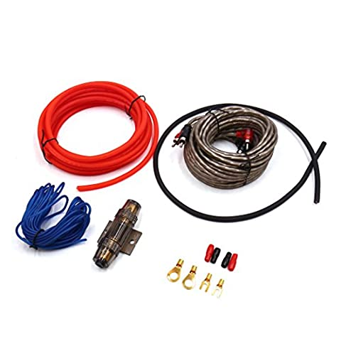 sourcingmap® 6 in 1 Copper Audio Stereo Amplifier Installation Kit Car RCA Interconnect Cable
