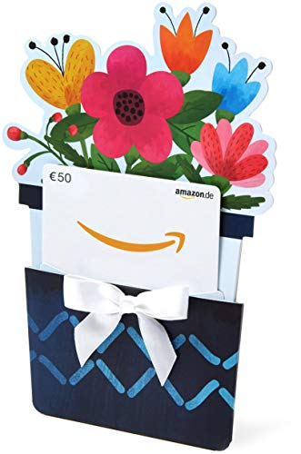 Amazon.de Geschenkkarte in Geschenkkuvert - 50 EUR (Blumentopf)