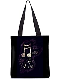 Snoogg Tote Bag 13.5 X 15 Inches Shopping Utility Tote Bag Made From Polyester Canvas - B01GCIKZV2