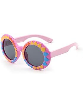 Niños Polarizado Goma Redondas Gafas de Sol Linda Chicos Niñas Hijos Años 3-12