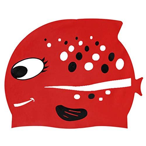 Cuffia Piscina Bambini Topgrowth Cuffie Nuoto Silicone Cartone Animato  Pesce Cuffia da Nuoto Junior Ragazzi Ragazze 2c3328a0520f