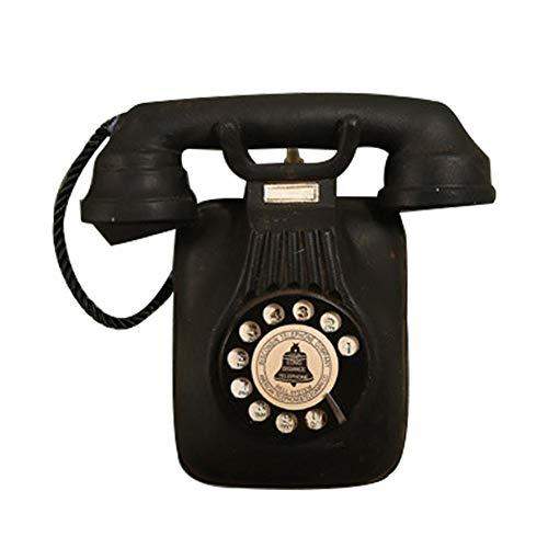 Decoración del teléfono de la vendimia, teléfono retro montado en la pared decorativos adornos colgantes de pared artesanía para bar decoración de la fotografía en casa