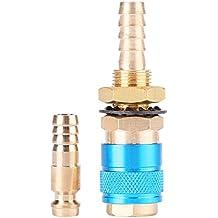 Adaptador de Gas Refrigerado por Agua Conector Rápido para Antorcha de Soldador MIG TIG (Azul