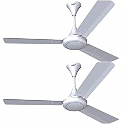 V GUARD 1200 MM SWEEP GLADO 400 CEILING FAN WHITE WITH 3 YEAR WARRANTY (PACK OF 2)