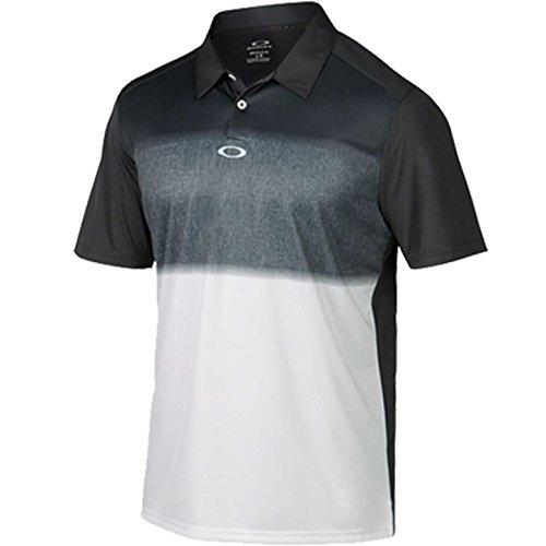 2015 Oakley Samford Lightweight Funky Mens Golf Polo Shirt Graphite Small (Oakley-golf-polo-shirt)