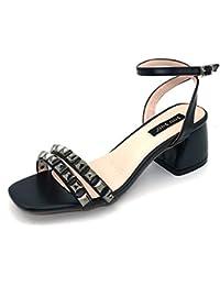 HAIZHEN zapatos de mujer Negro/rojo Zapatos de playa para niños y niñas Para mujeres (Color : Negro, Tamaño : 36)