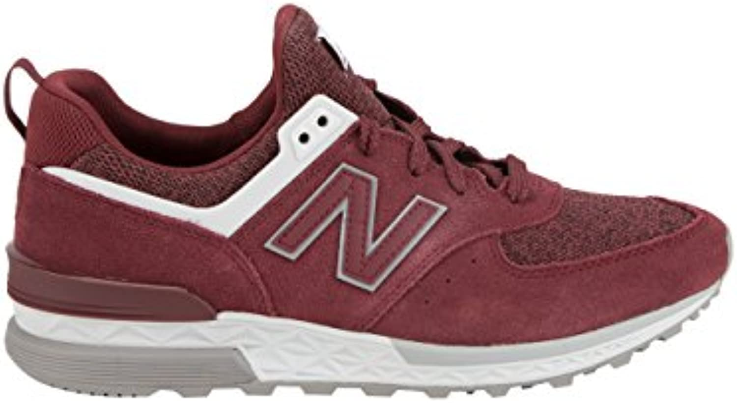 New Balance Red Suede MS574 CC Trainers