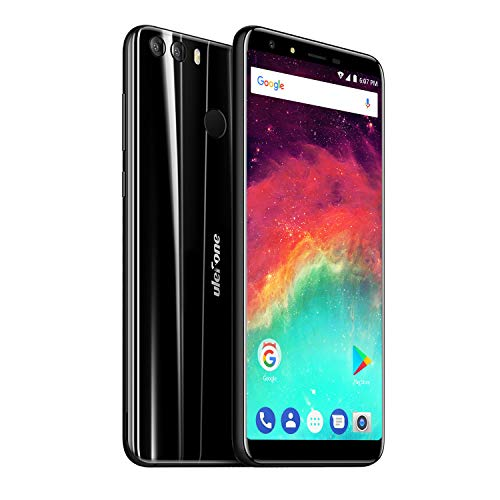 Ulefone Mix 2 Dual SIM 4G Smartphone ohne Vertrag (5,7 Zoll Display 2GB RAM 16GB interner Speicher, Android 7.0, GPS, OTG, Fingerabdruck) Schwarz -