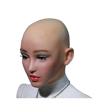 Ajusen Realistische Silikon Maske Engel Gesicht Weibliche Masken Halloween Masken Cosplay Männlich zu Weiblich für Crossdresser Transgender Shemale