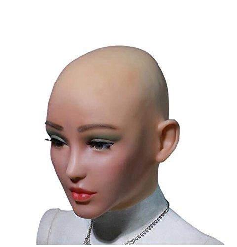 Silikon Maske Engel Gesicht Weibliche Masken Halloween Masken Cosplay Männlich zu Weiblich für Crossdresser Transgender Shemale ()