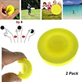 HUHUDAY Mini Frisbee, Disco Volante 2019 Mini Fresbee Pocket Flessibile Soft New Spin in Catching Game