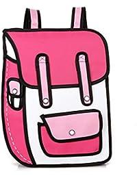 d3826fa96e54a1 HMONSTER salta stile 2D disegno Cartoon sacchetto di comico zaino moda  borse sveglie
