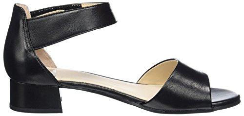 Caprice Damen 28212 Offene Sandalen mit Keilabsatz Schwarz (BLACK NAPPA)
