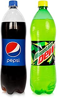 Pepsi & Mountain Dew Carbonated Soft Drinks,  2 x 1.5 L