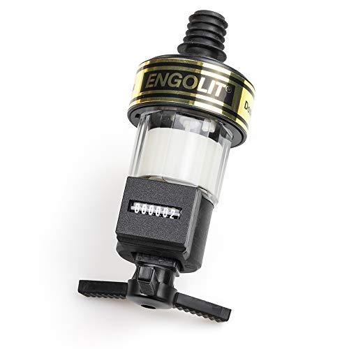 ENGOLIT 3 cl Spirituosen-Dosierer mit Zähler (Präzisions-Zählwerk, IP65 Staub- & Wasser-geschützt) Made in Germany - Schnapsspender, Portionierer (ohne Flaschensicherung, ohne Flaschenhalter)