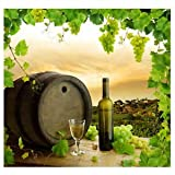SLB Works 5x7ft Grape Manor Barrels, Wine, Wine Glasses Photography Backdrops for ChilI4J9