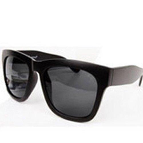 rétro lentilles carrés lunettes de soleil Anti-UV lunettes de vue(Noir) et9eFcKWZ