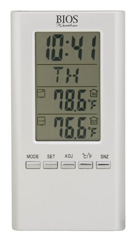 Thermor Bios Indoor/Outdoor Wired Digital Thermometer (White, 4.25-Inch x 6.5-Inch x 0.5-Inch) by Thermor