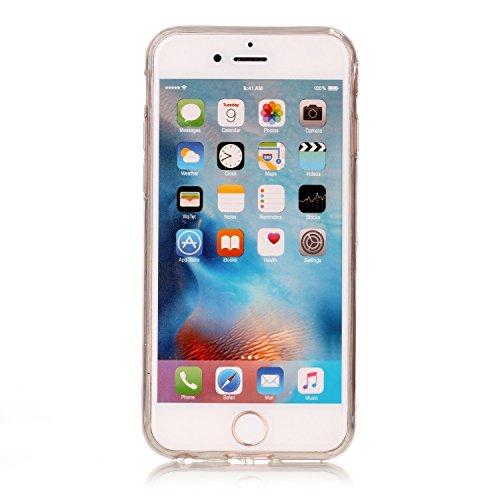 iPhone 6 / 6s Hülle, E-Lush TPU Soft Silikon Tasche Transparent Schale Clear Klar Hanytasche für iPhone 6 / 6s Durchsichtig Rückschale Ultra Slim Thin Dünne Schutzhülle Weiche Flexibel Handyhülle Krat Spitze Blumen nach unten