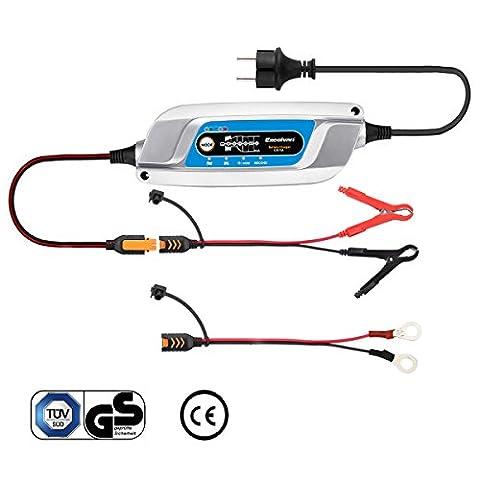 Excelvan Chargeur/Mainteneur de Batterie à 6-Étapes 3A 12V pour Véhicule/Voiture/Moto/Tondeuse/Batterie AGM et Gel