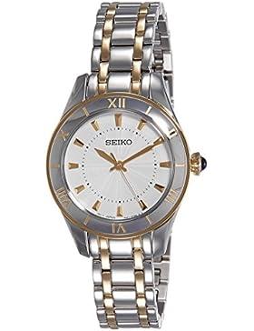 Seiko Damen-Armbanduhr XS Quarz Analog Edelstahl beschichtet SRZ432P1