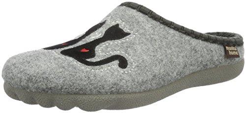 Manitu320469 - Pantofole con Imbottitura Leggera Donna, Grigio (Grigio (Grigio)), 38