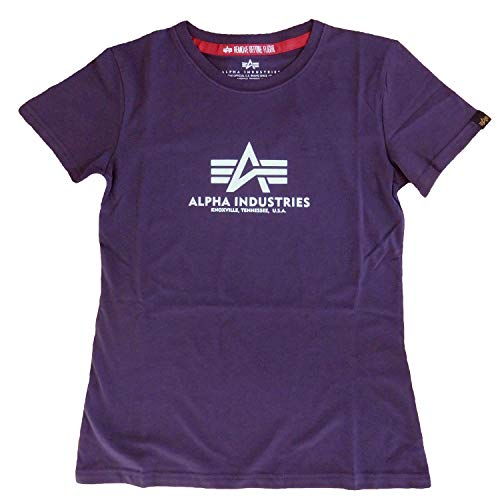 Alpha Industries T-Shirt New Basic T Women (L, Nightshade)