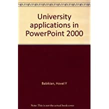 University applications in PowerPoint 2000