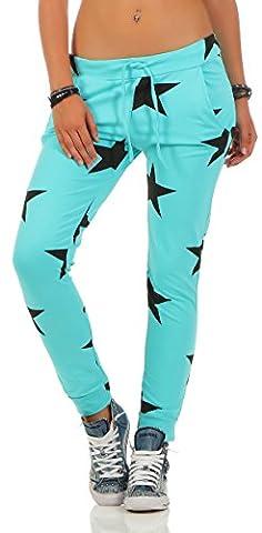 Mr. Shine Damen Sweatpants Baggy Hose Boyfriendhose Freizeithose Jogginghose Fitness Sporthose Yogapants Jogger Loose Fit Big Star S-XXXL (M, Mint)
